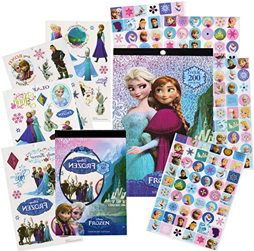 Disney Frozen Stickers & Tattoos Party Favor Pack (200 Stickers & 50 Temporary Tattoos) (Disney Frozen Tattoos)