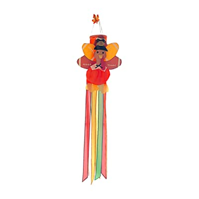 "Thanksgiving Turkey Football Windsock Hanging Decoration, Large Nylon 50"" Inch : Garden & Outdoor"