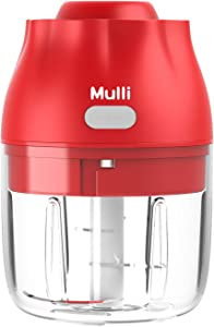 Electric Garlic Chopper,Mulli 8.8oz Mini Food Chopper, Portable Processor for Vegetable/Spices/Seasoning/Baby Food And More