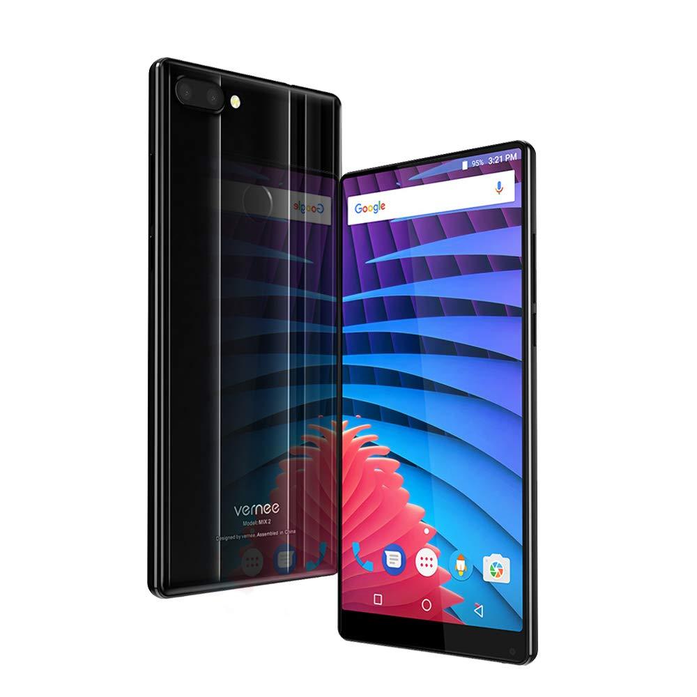 Vernee MIX 2 Teléfono móvil de 6 pulgadas FHD + 2160 * 1080 Pixels Helio P25 Desbloqueo de huellas dactilares de octa-core 4GB RAM 64GB ROM 13MP + 5MP Cámaras duales + 8MP Front Camera Front 4200mAh