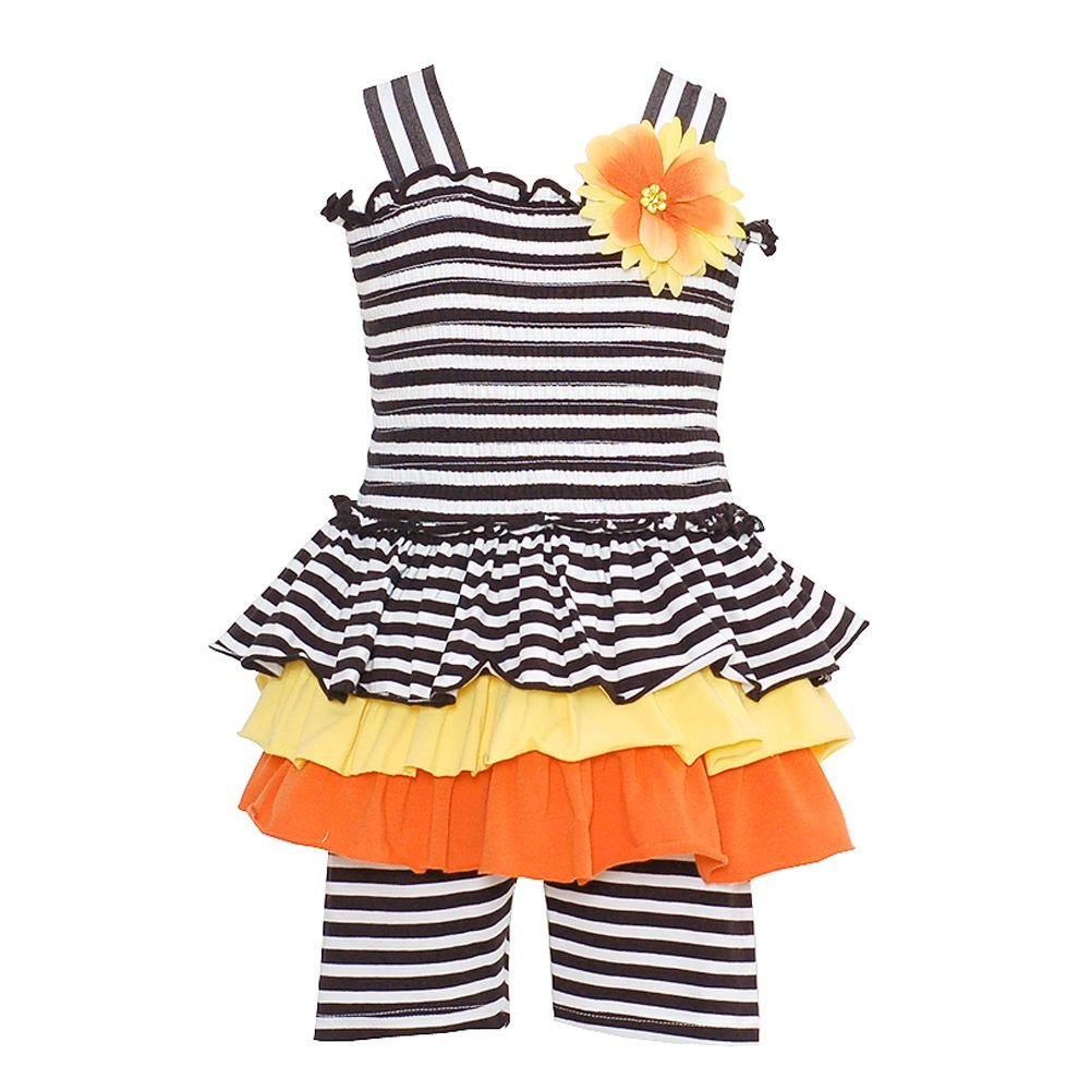 Baby-Girls Bonnie Baby Striped Smocked Sun Dress with Leggings