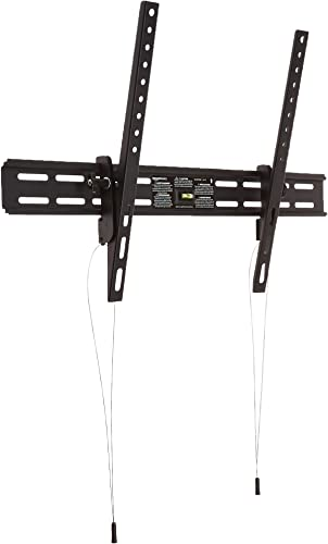 AmazonBasics Heavy-Duty Tilting TV Wall Mount for 37-inch to 80-inch TVs Renewed