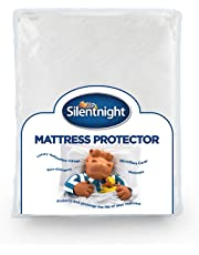 Silentnight Premium Quilted Mattress Protector-Double, Microfibre, White