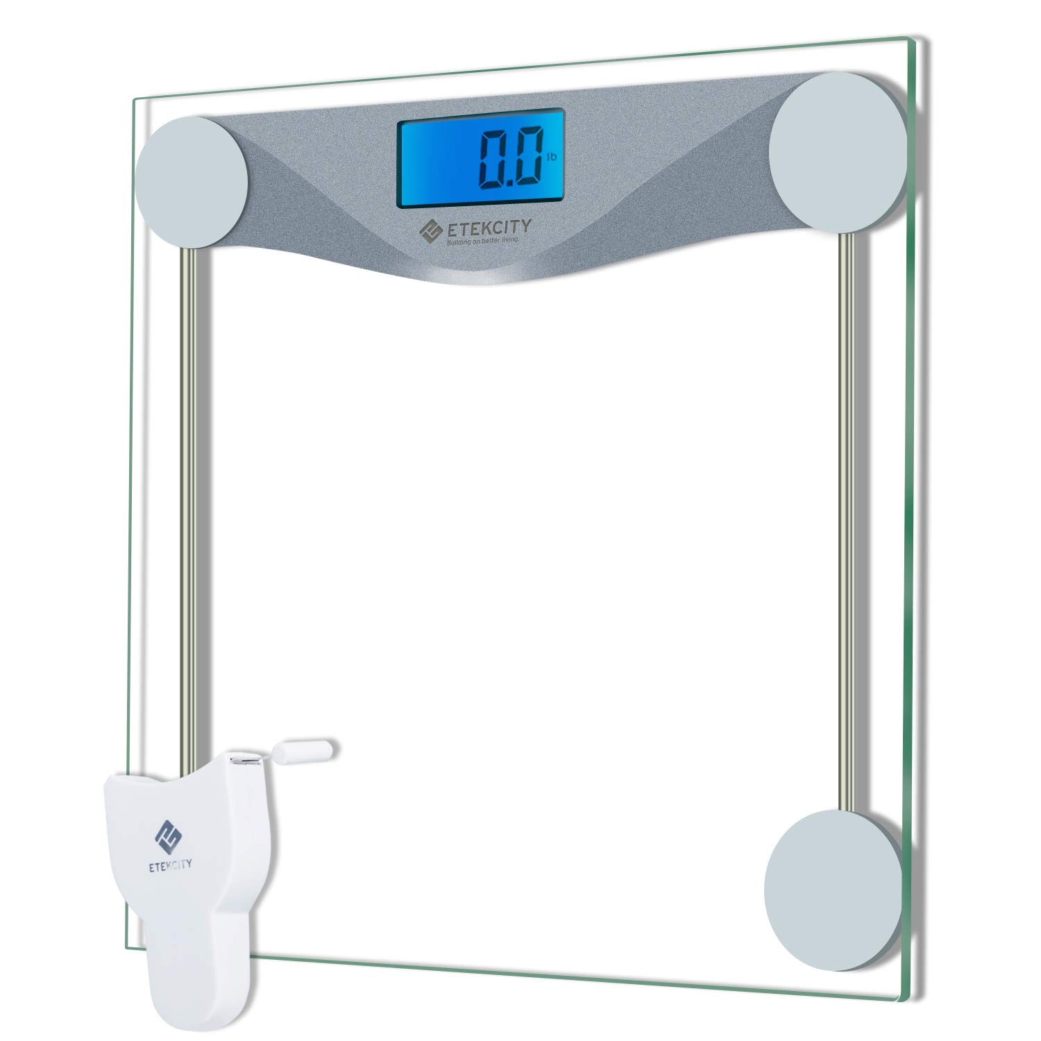 Etekcity Digital Bathroom Body Weight Scale, High Precision Smart Step-on Technology, Tempered Glass, Backlit Display, Body Tape Measure, 400 lb/180 kg product image
