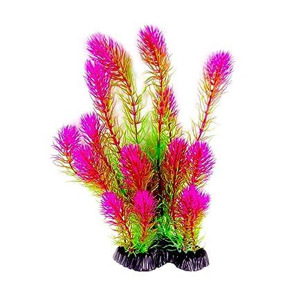 gaeruite - Plantas Artificiales acuáticas de 26 cm de Altura, Plantas de Acuario de simulación