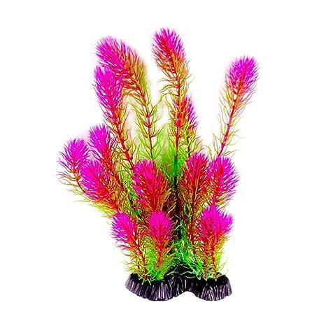 TUANMEIFADONGJI Artificial Agua Césped Colorido Plantas acuáticas ultrafinas Resistentes a la decoloración Inodoro Fácil de Instalar