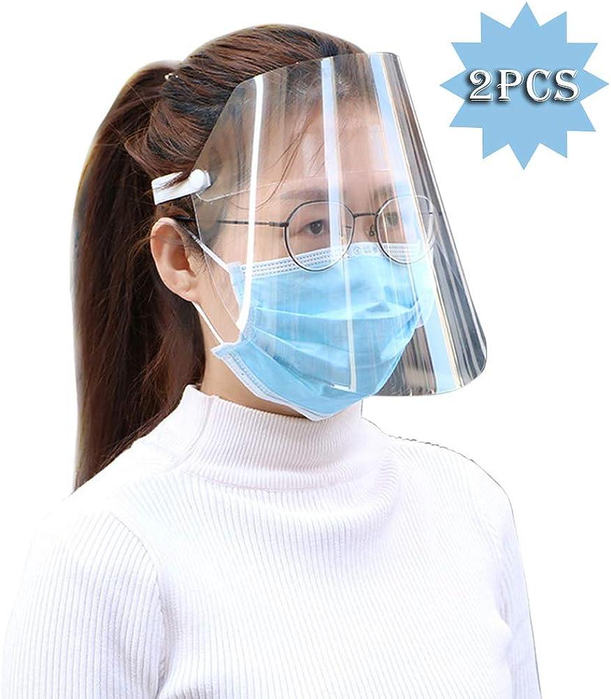 Romacci Protective Face Shield Klares Visier Klappbare Transparente Hat Anti Splash Gummiband Vollgesichtsabdeckung