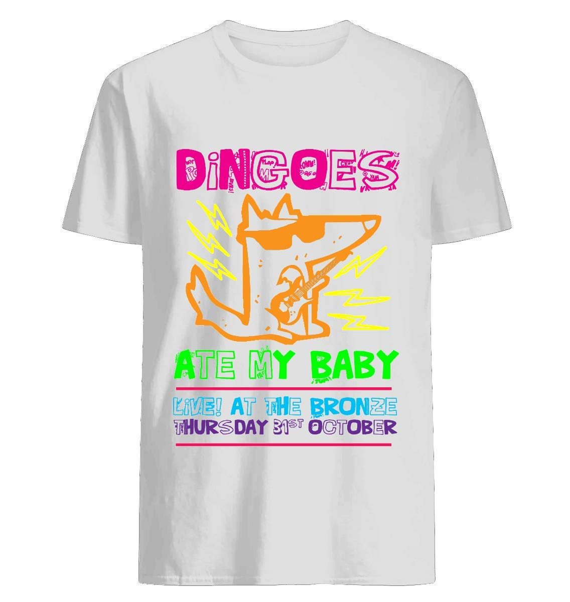 Dingoes Ate My Baby Buffy The Vampire Slayer Band T Shirt Neon