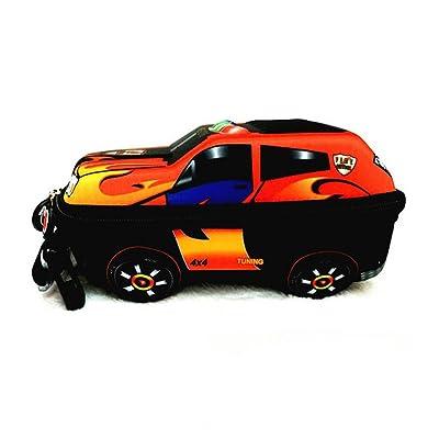 cheap MATMO Kids 3D Police Car Shaped Baby Schoolbag Boys Backpack Snack Daypack Orange