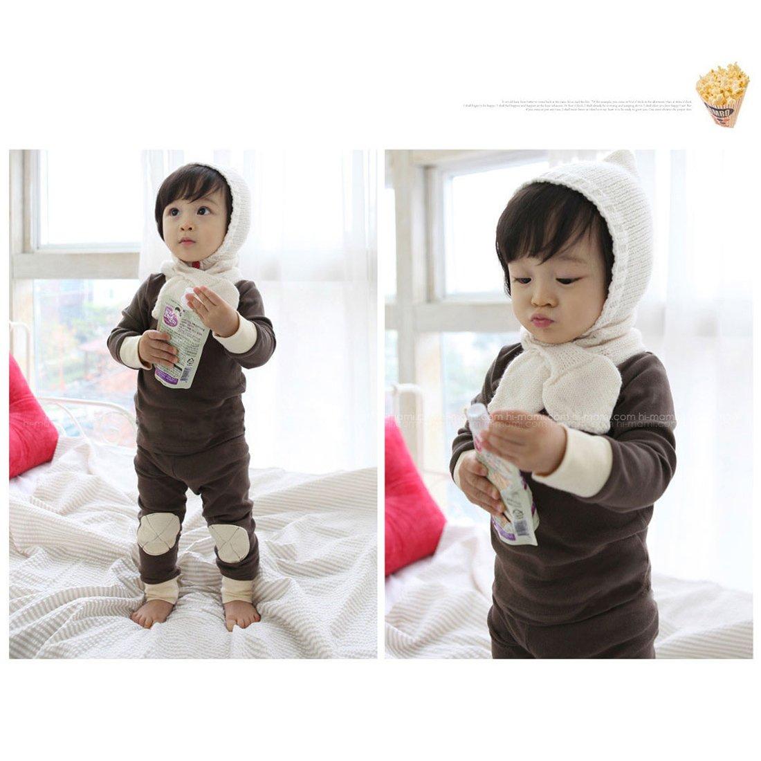 Gaorui Baby Toddler Girls Winter Pyjamas Set Fleece Lined Long Sleeve Thermal Underwear Casual Tracksuit Clothing Set