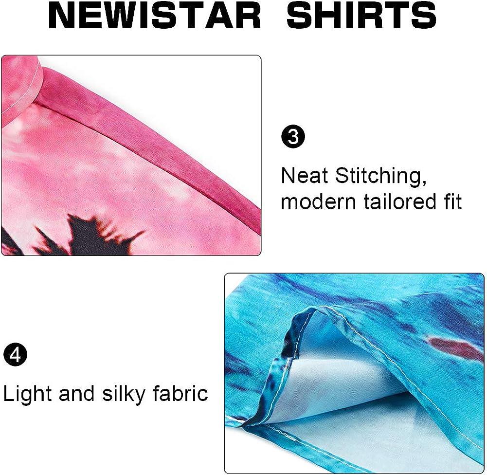 NEWISTAR Hawaiihemd Herren 3D Gedruckt Kurzarm Button Down Lustig Sommer Strandhemd Freizeit Hemden f/ür M/änner