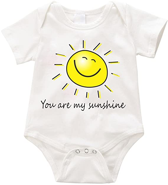 5cccf2204 Amazon.com: TallyWear USA You are my Sunshine onesie Romper: Clothing