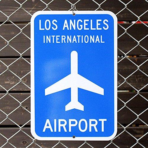 エアポートサイン「Los Angels International Airport」(ロサンゼルス国際空港 LAX) /アメリカの道路標識/飛行場/ B01LX7G964