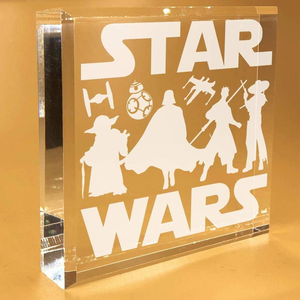 Star Wars Gifts | For Boys | Men | Women | Adults | Girls | Desk Plate | Christmas | Paperweight | Keepsake