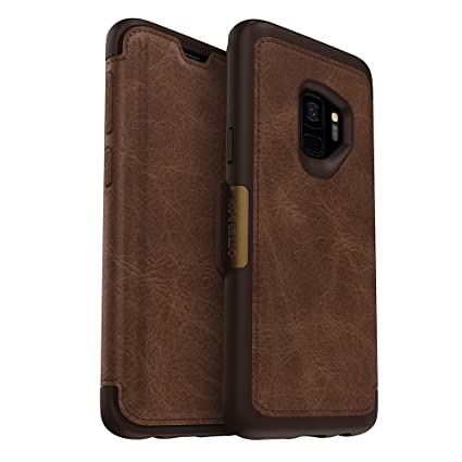 best service 4156c 7cbee OtterBox STRADA SERIES Case for Samsung Galaxy S9 - Retail Packaging -  ESPRESSO (DARK BROWN/WORN BROWN LEATHER)