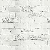 Vintage Stone Brick Pattern Vinyl Contact Paper Self Adhesive Decorative Wallpaper Peel and Stick Multipurpose Shelf Liner 17.69 x 117 Inch
