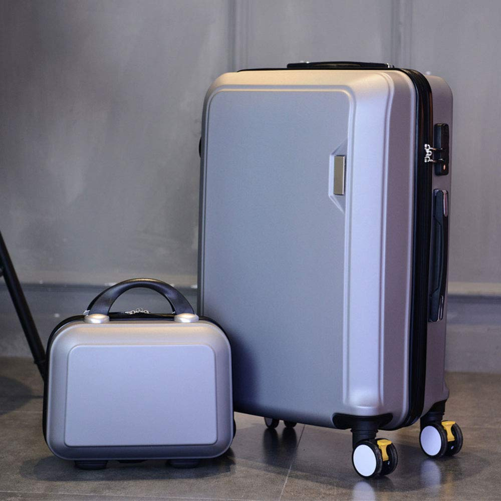 トロリーボックスマザーボックスボックスコンビネーション荷物ボックスユニバーサルホイールスーツケースロックボックス (Color : シルバー しるば゜, Size : 22 inches)   B07R8X7GQF