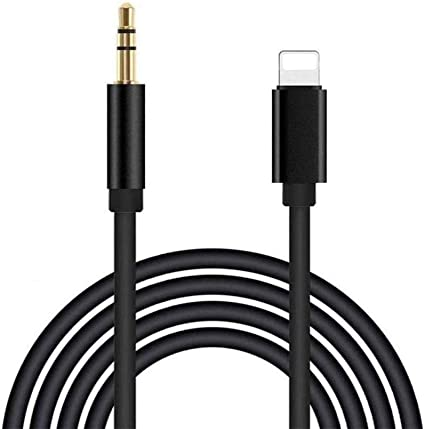 Apple MFi Certified Charging Audio Cable for iPhone,2 in 1 Lightning to 3.5mm Nylon Braided Aux Cord Works with Car Stereo Speaker Headphone Car Charger Compatible with iPhone 11//11 Pro//XS//XR//8//7//SE