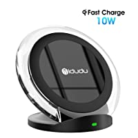 Caricatore Wireless, iDudu Caricabatterie Wireless Charger per Samsung S9 S9+ S8 S8 Plus Note 8 S7 Edge / iPhone X iPhone 8 8Plus e tutti i dispositivi abilitati Qi