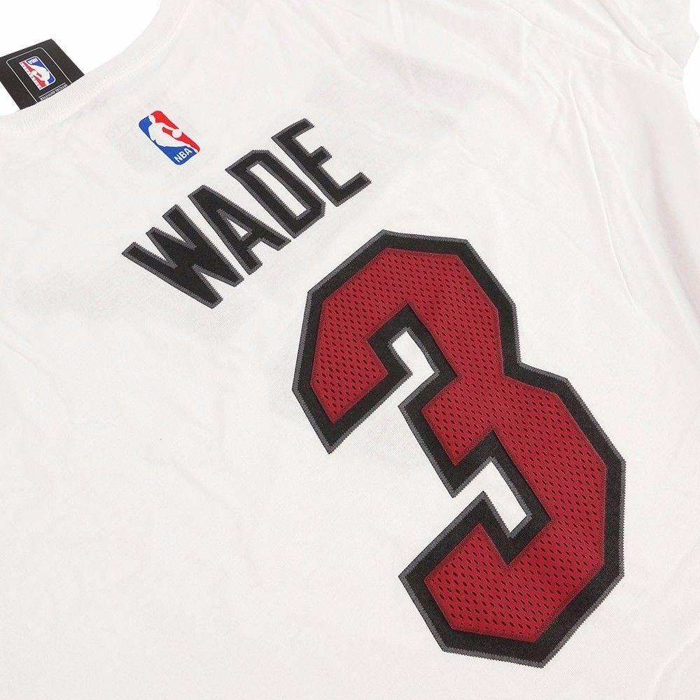 c1fd390935438 Amazon.com : DWAYNE WADE MIAMI HEAT ADIDAS NBA Player Name & Number ...