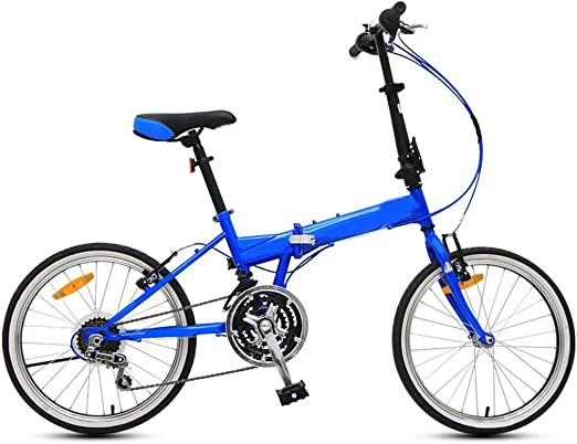 BOT Bicicleta Mujer,Protable 20 Pulgadas Peso Ligero Plegable Mini ...
