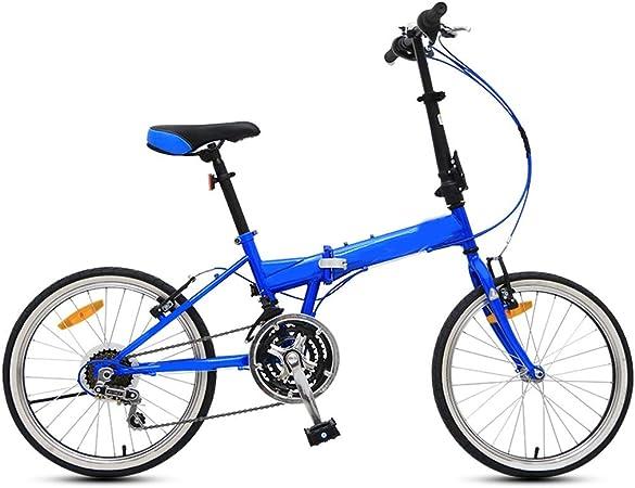 BOT Bicicleta Mujer,Protable 20 Pulgadas Peso Ligero Plegable Mini Soporte For Bicicletas, Bicicletas Pequeño Portátil con T Handlebar- Plegable Pedalear- V-Brake, Ultra Luz De La Bicicleta: Amazon.es: Hogar