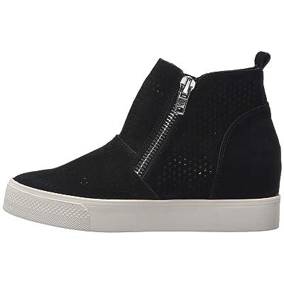 Womens Perforated Wedge Sneakers Platform High Top Mid Heel Side Zip Ankle Booties | Fashion Sneakers