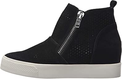 Womens Perforated Wedge Sneakers