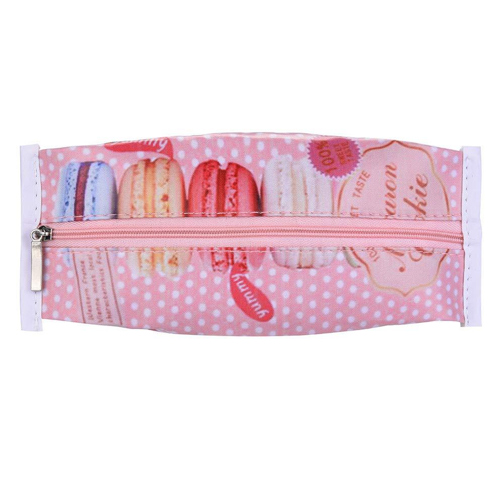 HIKO23 Creative Pencil Packs,Waterproof PU Cartoon Cute Snack Students Stationery Pencil Pouch Zipper Pen Bags