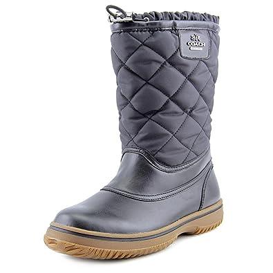 c3d75c3a7a5a Amazon.com   Coach Samara Black Aniline Leather/Nylon Boot (6)   Boots