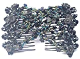 Casualfashion Magic Vintage Morning Glory Crystal Beaded EZ Stretchy Double Clips Hair Comb
