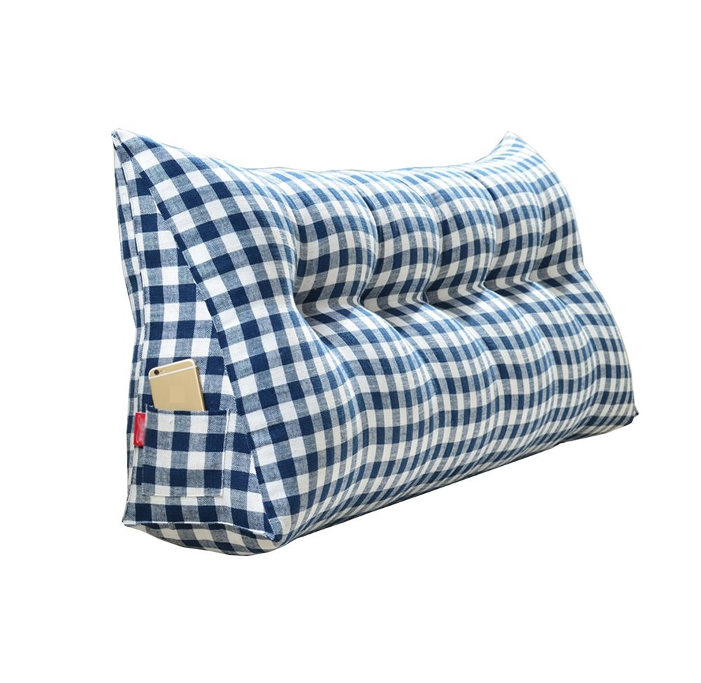 ベッドサイドの厚いクッション三角枕と長い背もたれの取り外し可能と洗濯可能なウエストピロー/レディング枕 (色 : Blue, サイズ さいず : 135 * 50 * 20cm) B07DK89HGT 135*50*20cm|Blue Blue 135*50*20cm