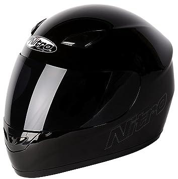 Nitro Casco Moto Dynamo Uno, Negro, S
