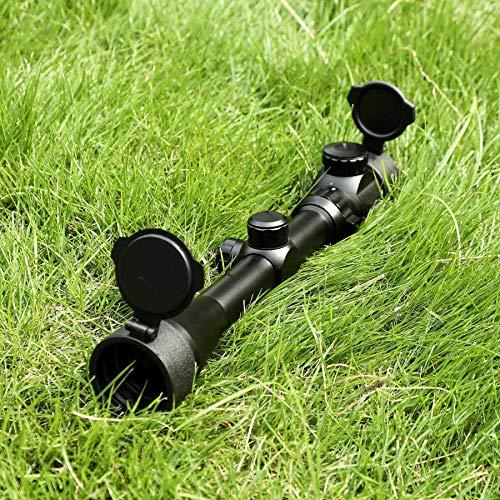 Pinty 3-9X40 Red Green Rangefinder Illuminated Optical Rifle Scope