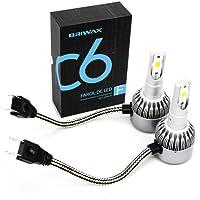 Par Super Lâmpada LED H7 36w 6000k Super Branca C6 Briwax