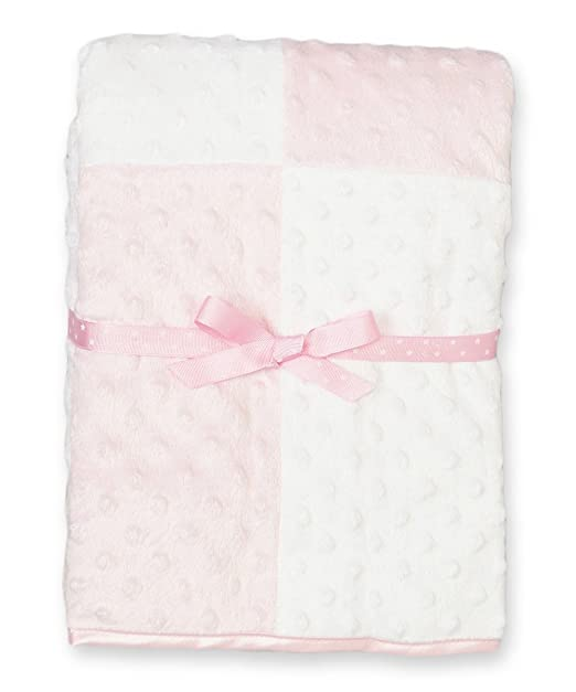 Amazon.com: Baby-Girls recién nacido Minky Raised Dot Manta con ...