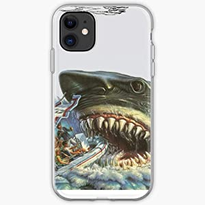 Movie Universal Jaws Shark Studios Great Amity White Ride Island The - Unique Design Snap Phone Case Cover for iPhone 11