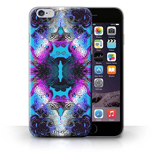 iCHOOSE Print Motif Coque de protection Case / Plastique manchon de telephone Coque pour iPhone 6+/Plus 5.5 / Collection Symétrie Motif / Pourpre/Bleu Floral