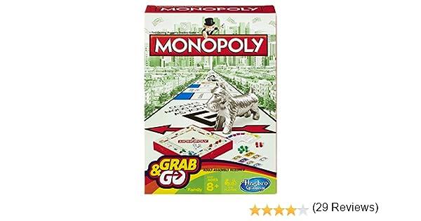 Hasbro Monopoly Grab and Go Game: Amazon.es: Juguetes y juegos