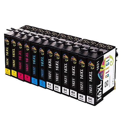 GLEGLE 16XL Cartuchos Tinta 12 Multipack Reemplazo para ...