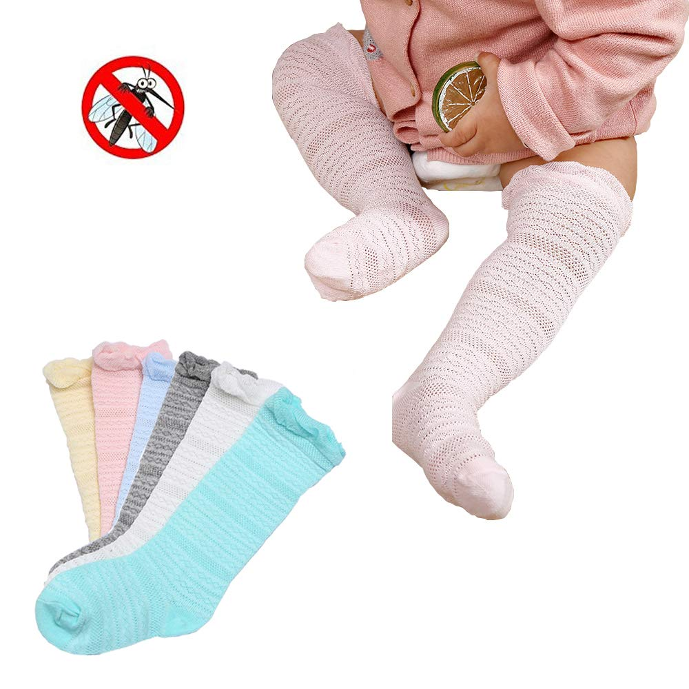 Echodo Toddler Knee High Cotton Socks Newborn Baby Stockings 6 Pairs Echo' s Grocery