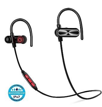 oneodio deportes auriculares Bluetooth, auriculares inalámbricos estéreo en la oreja a prueba de sudor auriculares