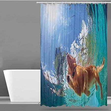 VIVIDX - Cortinas para mampara de Ducha, diseño de Submarino con Notas Musicales Coloridas, rithm de Flores, ilustración artística, construcción de Metal: Amazon.es: Hogar