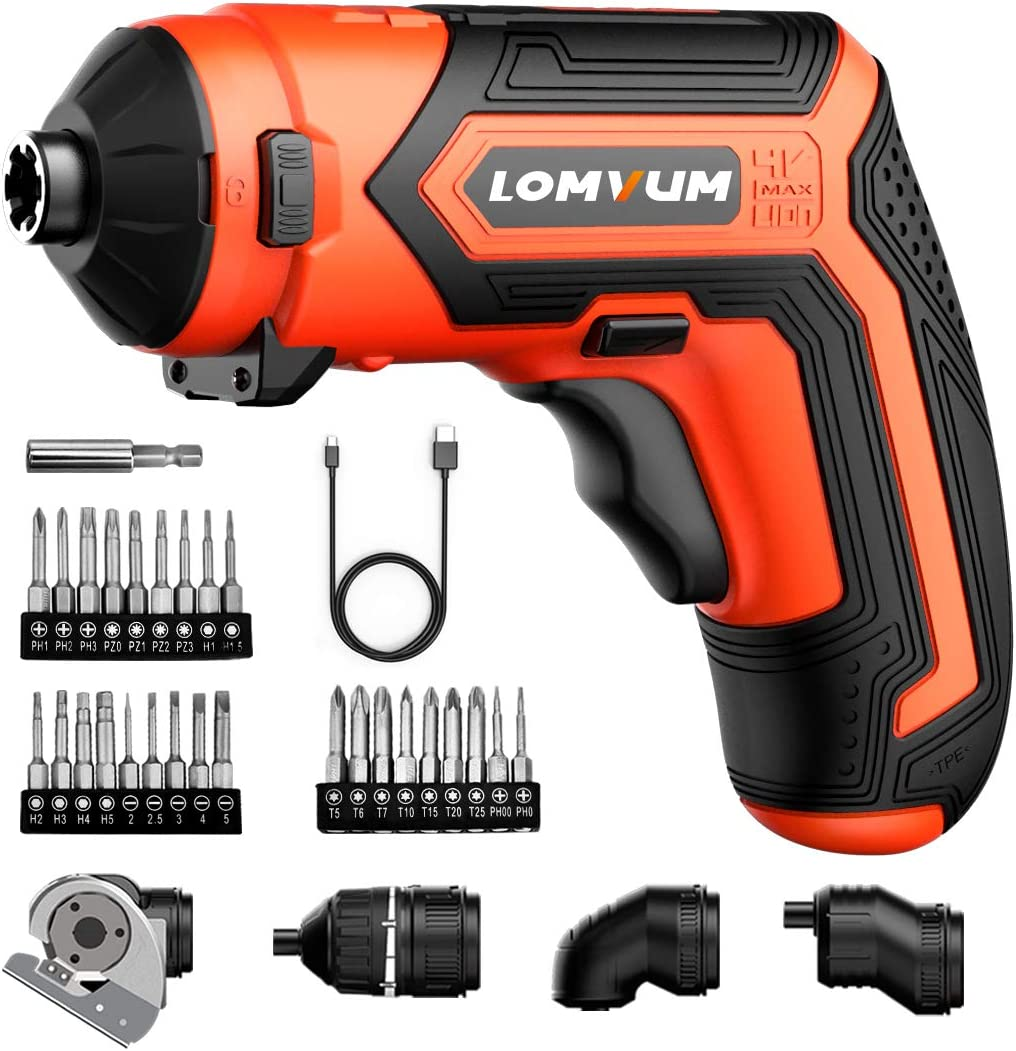Cordless Rechargeable Screwdriver Set 5-in-1 Drill