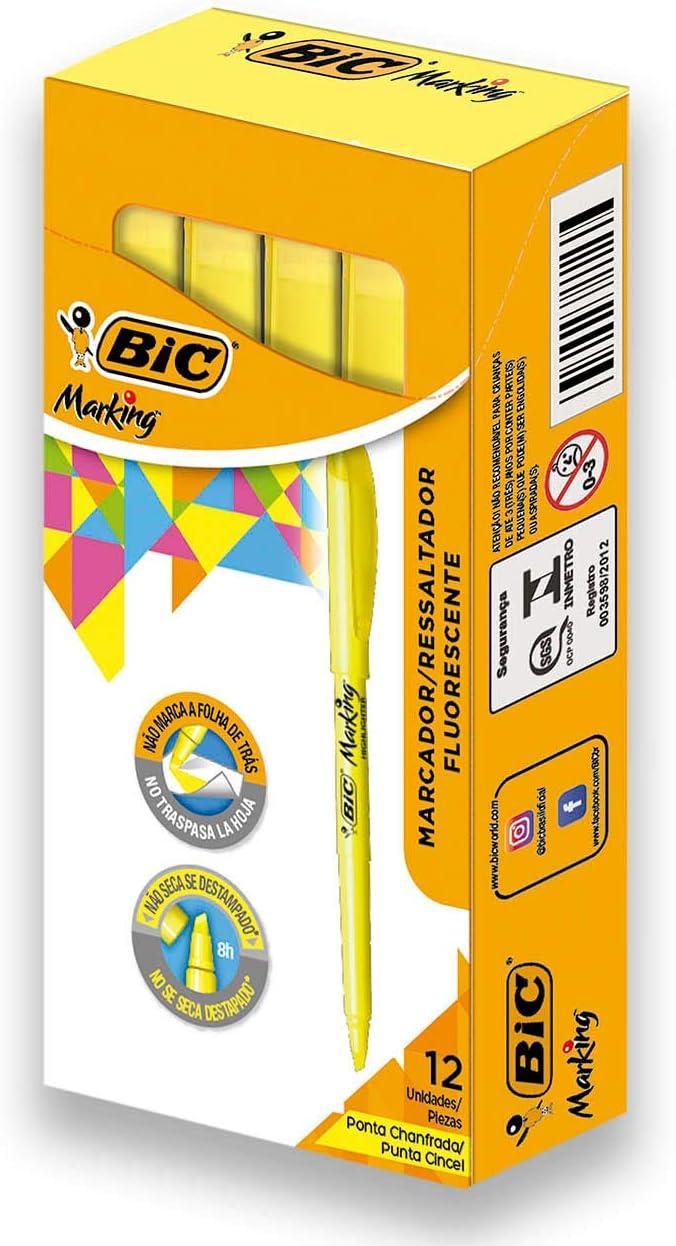 BIC Brite Liner Erasable Highlighter 3-Pack Yellow