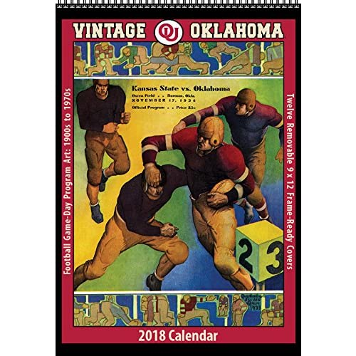 2018 Vintage Oklahoma Sooners Football Calendar for sale