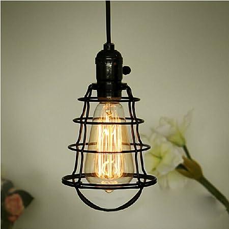 iluminación Mini Vintage Edison que cuelga la lámpara pendiente ...