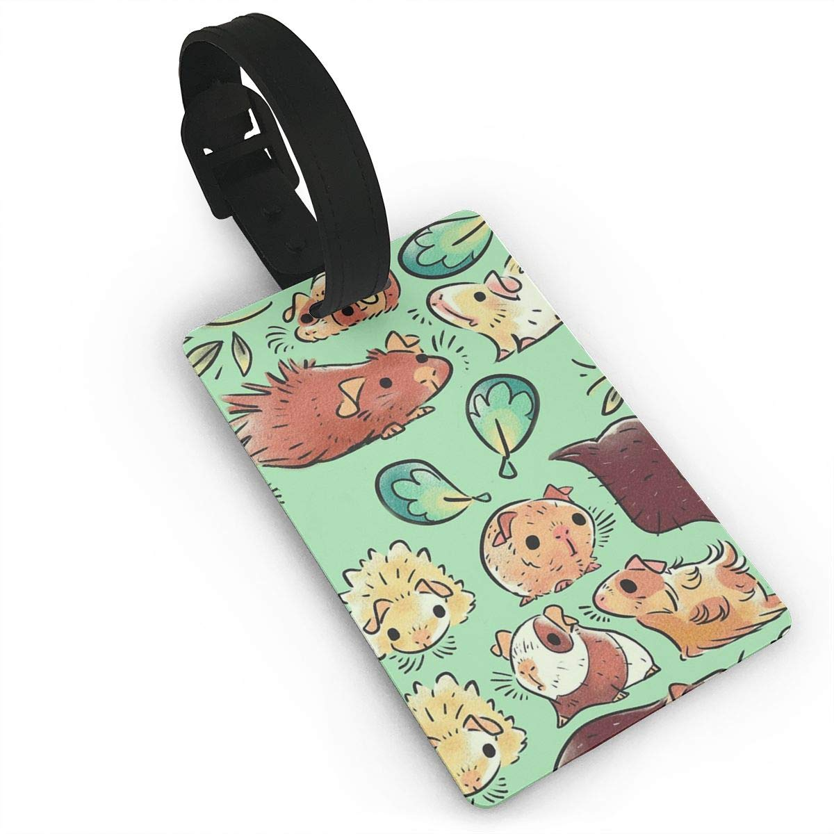 Set of 2 Guinea Pig Huddle Luggage Tags Suitcase Labels Bag Travel Accessories