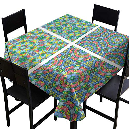 (Rectangle tablecloths Set of Abstract Mosaic Colorful Seamless Wallpaper Texture backg9,W36 x L36 for)