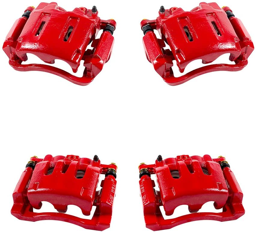 FRONT fit Chevrolet GMC Hummer REAR Premium Powder-Coated Remanufactured Calipers 4 Hardware Callahan CCK07174